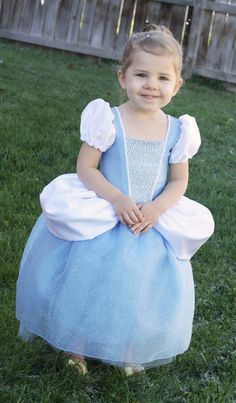 Homemade Toast: Cinderella Princess Dress - Costume Pattern and Tutorial. The side flounces start as circles.