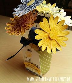 stampin with fanny: Make & Take #1 meiner Katalogparty: Mini-Vase mit Gänseblümchen