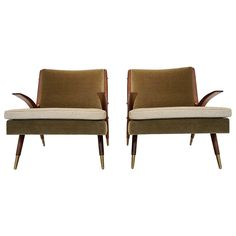 Lounge Chairs by Karpen of California   From a unique collection of antique and modern lounge chairs at https://www.1stdibs.com/furniture/seating/lounge-chairs/