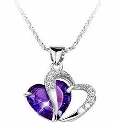 buytra Fashion Women 925 Sterling Silver Amethyst Purple Heart Crystal Pendant Necklace Description Condition:  New with tags: A brand-new, unused, and unworn item (including handmade items) in the original packaging (such as the original (Barcode EAN = 0520661980669) http://www.comparestoreprices.co.uk/necklaces/buytra-fashion-women-925-sterling-silver-amethyst-purple-heart-crystal-pendant-necklace.asp