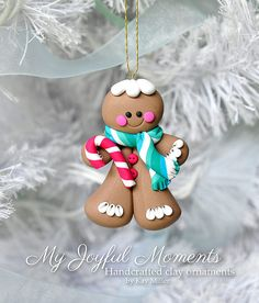 Handcrafted Polymer Clay Gingerbread Man by MyJoyfulMoments