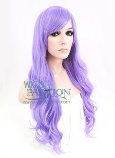 "24"" Long Curly Light Purple Fashion Synthetic Hair Wig CM163 - Wig Is Fashion"
