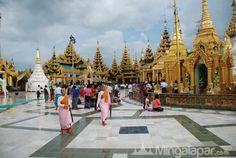 Nice view. Myanmar pagodas