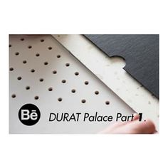 It's so exciting to see the beginning steps of The Most crafting up the idea of the Durat Palace Collection. This material is very stylish and still keeps the sustainable story of Durat. Solid Surface, Palace, Recycling, Crafting, Stylish, Projects, Collection, Log Projects, Craft