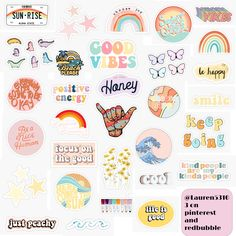 Stickers Cool, Cute Laptop Stickers, Bubble Stickers, Printable Stickers, Custom Stickers, Planner Stickers, Journal Stickers, Aesthetic Indie, Aesthetic Colors
