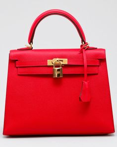 Hermes Kelly in red.