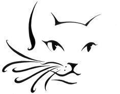 Katzen Tattoo Umriss Silhouetten Ideen - Rock Art - - Katzen - Katzen World Cat Drawing, Line Drawing, Paw Print Drawing, Cat Paw Print Tattoo, Drawing Faces, Tattoo Outline, Hp Tattoo, Tiny Tattoo, Tattoo Flash