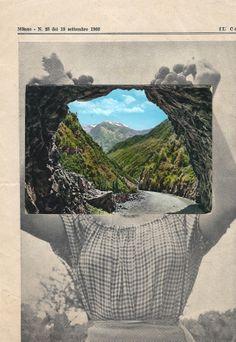 Raimon Benach Tribute to John Stezaker Paper collage