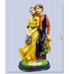 Colorful Lovely Couple Statue @ Rs 1400  Free Home Delivery Available across India. http://www.krafthub.com/colorful-lovely-couple.html