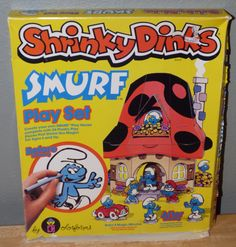 Smurf Shrinky Dinks I remember baking these in the oven at grandmas house lol Childhood Images, Childhood Toys, Childhood Memories, Vintage Toys 1970s, Retro Toys, Cartoon Toys, Cartoon Tv Shows, Only Child Day, Best 90s Cartoons