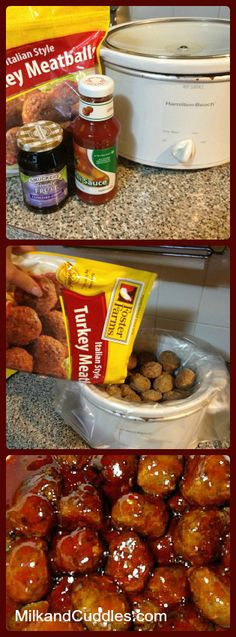 3 Ingredient Grape Jelly Meatballs! Sounds crazy... tastes CRAZY GOOD!! Great pass the dish! (Video included)