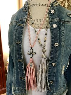 MarleeLivesRoxy - sari silk tassel necklaces