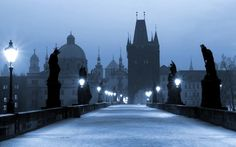 Prague in the Czech Republic is full of haunted places. Take a ghost tour in Prague or read these Ghost Stories and legends from Prague. Most Romantic Places, Most Beautiful Cities, Amazing Places, Prague Travel Guide, Prague Winter, Best Ghost Stories, Visit Prague, Charles Bridge, Ghost Tour