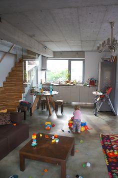 SYAA | O House ww.syaa.ro #house #interior #design #living room #colorful #concrete Concrete, Colorful, Living Room, Interior Design, House, Nest Design, Home Interior Design, Home, Interior Designing