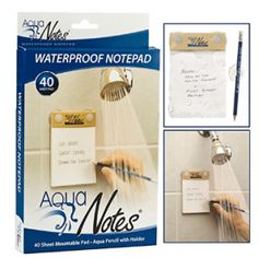 Aqua Notes Water Proof Note Pad Cool Gifts, Diy Gifts, Aqua, Cool Stuff, Stuff To Buy, Stupid Stuff, Memo Notepad, Gifts For Readers, Things To Come