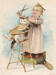 Prints and Photographs, Special Collections, Library of Virginia. cat pet Victorian scrapbook die cut vintage clip art free for personal use Vintage Clipart, Vintage Abbildungen, Images Vintage, Decoupage Vintage, Vintage Ephemera, Vintage Pictures, Vintage Cards, Vintage Postcards, She And Her Cat