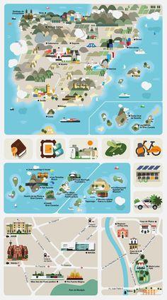 Map design #Map #MapDesign #InfographicMap #Design #GraphicDesign #illustration #CartoonMap #IllustratedMap