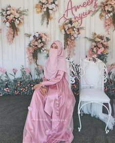 Muslimah Wedding Dress, Hijab Style Dress, Modest Fashion Hijab, Hijab Wedding Dresses, Wedding Dressses, Wedding Dress With Veil, Dress Muslimah, Dark Green Long Dress, Niqab