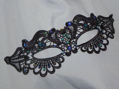Peacock Lace Masquerade Mask  Available in by TheCraftyChemist07