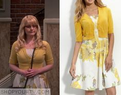 BIg Bang Theory: Season 9 Episode 5 Bernadette's Yellow Floral Print Dress