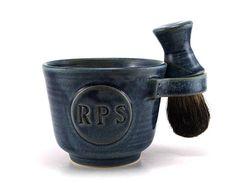 Personalized Wet Shaving Set: Black Badger Brush Soap Shave