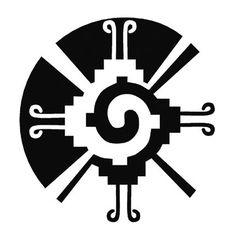 A tattoo of Hunab Ku, the Mayan symbol for unity, balance, wholeness and the universe.