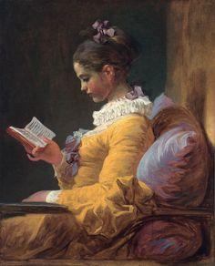 A Young Girl Reading: Jean-Honoré Fragonard: c. 1770, oil on canvas, 81 x 65 cm (National Gallery of Art, Washington)