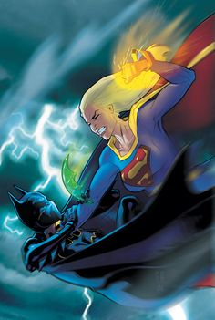 Supergirl vs Batgirl by Stephane Roux * - I'm not a big fan of Batgirl, but hey...she's a Bat and we all know how this fight is going to end.