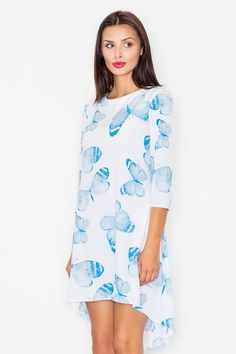 Calvin Klein, Cold Shoulder Dress, Tunic Tops, Casual, Pattern, Floral, Dresses, Street, Products