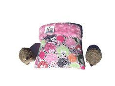 Small Animal Sleeping Bag Hedgehog Snuggle Sack with Faux Fur Size 9x9 Washable 3 Layers