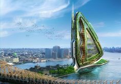 The Dragonfly: A Giant Winged Vertical Farm for New York City