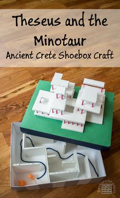 Theseus and the Minotaur shoebox craft for studying Ancient Greece and Ancient Crete. via @researchparent