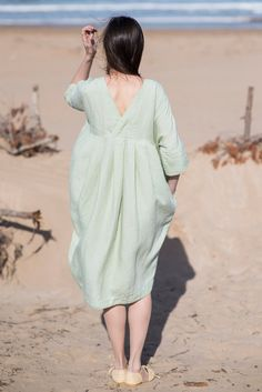 Linen Dress Motumo 16S6 by MotumoLinen on Etsy