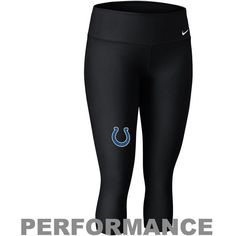 Nike Indianapolis Colts Women's Performance Capri Pants - Black ($52) ❤ liked on Polyvore featuring activewear, activewear pants, black, nike activewear pants, nike sportswear, nike and nike activewear