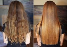 Straighten your hair takes you too much time and makes your hair dried and burnt? Find out How To Straighten Your Hair Naturally, Without Heat! Keratin, Hair Straightening Spray, Hair Without Heat, Art Simple, Natural Hair Styles, Long Hair Styles, Amazing Transformations, Hair Strand, Hair Conditioner