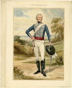 Earl of Bridgewater in 14th Light Dragoons uniform