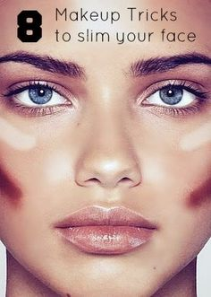 8 Makeup Tips That Will Make Your Face Look Thin Instantly - If you've ever seen celebrities without makeup look unrecognizable, then you know how transformative certain techniques can be. These easy makeup tricks can take 10 pounds off your look, instantly — they're optical illusions!