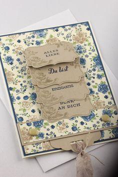 Wasserfallkarte Muttertag Grußkarte von INEZZA - Geschenkestübchen auf…