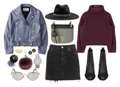 """926"" by dasha-volodina ❤ liked on Polyvore featuring Acne Studios, Topshop, Yves Saint Laurent, Prada, Jean-Paul Gaultier, rag & bone, Larsson & Jennings, Lancôme and Cartier"