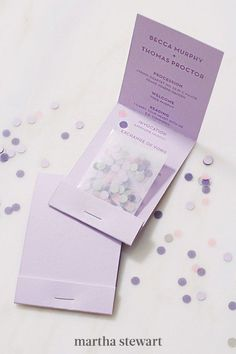 Make it easier for attendees to shower you with extra love after the I do's by incorporating the confetti right into the notes. Gather up punched holes of paper, fold the program, stash the bits on a glassine envelope, and staple the pack to the bottom of the page. #weddingideas #wedding #marthstewartwedding #weddingplanning #weddingchecklist Diy Wedding Programs, Ceremony Programs, Felt Pouch, Glassine Envelopes, Letter To Yourself, Letter Size Paper, Custom Stamps, Wedding Stationery, Confetti