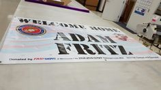FASTSIGNS of Menomonee Falls banner, made for and donated to welcome home soldier Adam Fritz. Check us out at fastsigns.com/452, call us at #262-253-0799, email us at 452@fastsigns.com, or come visit us at W173N9170 St. Francis Drive, Suite 1, Menomonee Falls, WI 53051