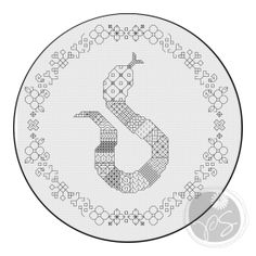 PixyStitches free pattern friday  year of the snake. free cross stitch