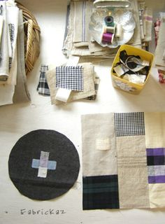 zakka Sewing Tutorials, Sewing Projects, Sewing Patterns, Fabric Art, Fabric Crafts, Japan Crafts, Small Study, Textiles, Hand Applique