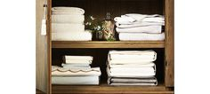 Sheets bundled inside pillow case makes easy to keep track. 15 Organizing Ideas for Your Most Clutter-Prone Spots - One Kings Lane - Style Blog