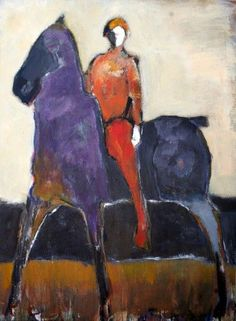 Horse and Red Rider by James Koskinas