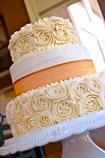 Rose cake...easy to decorate. just take it step by step