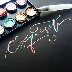 Never get bored of Finetec colour. I'd love to get some new colour to try, any suggestions? Happy friday, y'all! #happyletteringchallenge #brushletterpracticechallenge #brushcalligraphy #pointedpencalligraphy #brushlettering #handlettering #letteringchallenge #letterarchive #togetherweletter #watercolorart #moderncalligraphy #goodtype #calligrabasics #handdrawntype #50words #typography #artoftype #alphagettoknowme #happyletteringchallenge #dndchallenge #typelettering