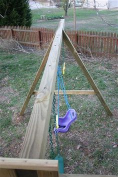 How to Build a DIY Playground Playset Part 2 Diy Swing, Bench Swing, Backyard Playset, Diy Playground, Jungle Gym, Fa, Swings, Play Houses, Yard Ideas