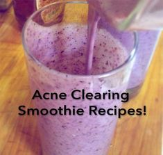 Acne Clearing Smoothie Recipes! #ClearSkinDiet Foods For Clear Skin, Clear Skin Detox, Healthy Smoothies, Smoothie Recipes, Healthy Drinks, Food For Acne, Super Healthy Recipes, Vegan Recipes, Acne Skin