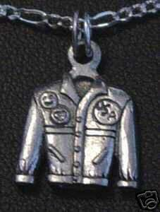 Silver MotorCycle Jacket Pendant charm America Jewelry Sterling Silver 925 Jewelry
